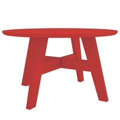 Mesa de Centro em Mdf Bay 37,5x68cm Vermelha - Líder Design