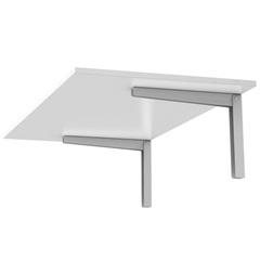 Mesa Dobrável Branca 60x35cm - Fico Ferragens