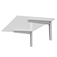 Mesa Dobrável Branca 90x45cm - Fico Ferragens
