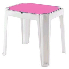Mesa Infantil Versa Branca E Pink Linha Game Ref. 92340/016 - Tramontina