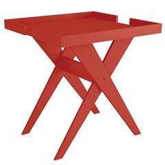 Mesa Lateral em Mdf Sweet 66,5x56cm Vermelha - Líder Design