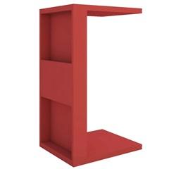 Mesa Lateral em Mdp Book 68x38,5cm Vermelha - Líder Design