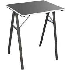 Mesa para Escritório Preto Laminado 74x60x48cm - Casanova