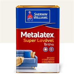 Metalatex sem Cheiro Brilho Branco 18lt  - Sherwin Williams