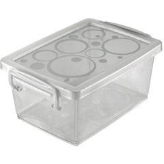 Mini Organizador com Alça 650ml Branca - Ordene