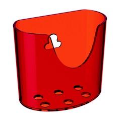 Mini Organizador com Ventosa Vermelho  - Coza