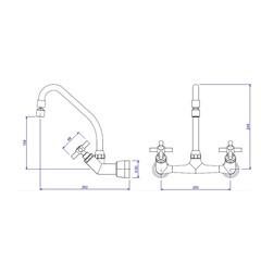 Misturador para Cozinha de Parede Cromado Izy - Ref: 1258 C37 - Deca