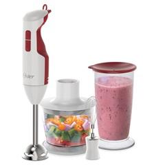 Mixer Delight 3 em 1 Branco E Vermelho 220 V - Oster