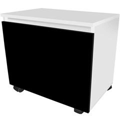 Módulo em Mdf Sicflex Gavetão Branco E Preto - Sicmol