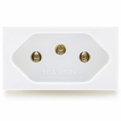 Módulo Tomada 2 P+T 10a 250v Talari Branco - Iriel