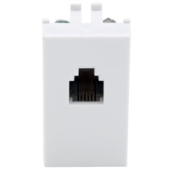 Módulo Tomada Telefone Padrão Americano Rj11 Talari Branco 10351 - Iriel