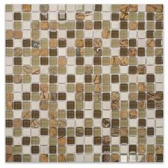 Mosaico Pedra E Vidro 30,5x30,5cm  - Colormix