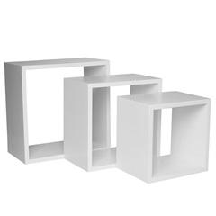 Nicho Trio 35cm Branco - Decorprat