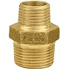 """Níple em Latão de Redução 3/4x1/2"""" Dourado - Ramo Conexões"""