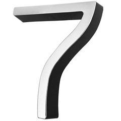 Número 7 Cromado E Preto