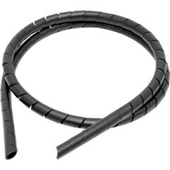 Organizador de Fios em Espiral 1/2 X 1 Metro Preto  Esf/24 - Fixtil