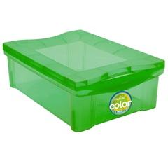 Organizador Médio Radical Color 13,5 Litros Verde  - Ordene