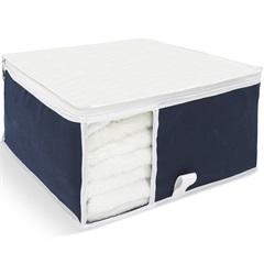 Organizador para Toalhas com Visor 36x36x15cm Azul - Boxgraphia
