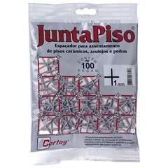 Pacote Espaçador Juntapiso 1,0mm Plástico - Cortag