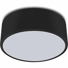 Paflon Redondo 60w Bivolt Clean 25cm Preto - Spot Line