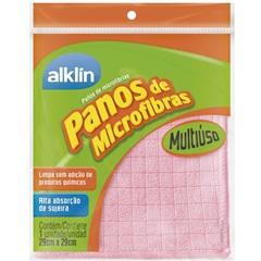 Pano de Microfibra Multiuso 29x29cm Rosa - Alklin