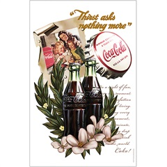 Pano de Prato em Algodão Coca-Cola Vanilla Flowers  - Urban