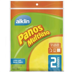 PANO MULTIUSO 36X40CM AMARELO 371862 Alklin