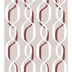 Papel de Parede 7210 Bege E Vinho 52cm com 10 Metros - Bobinex