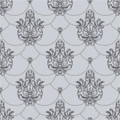 Papel de Parede Decor Tradicional Texturizado Cinza E Preto 0.53x10m - Komlog