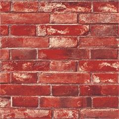 Papel de Parede Estilo Tijolo Vermelho 53cmx10m - Colorful