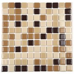 Pastilha de Vidro Adesiva Ecológica Marrom E Caramelo 30 X 30 Cm 1 Peça - Casanova