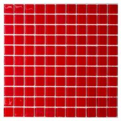 Pastilha de Vidro Vermelha 30 X 30 Cm 1 Peça