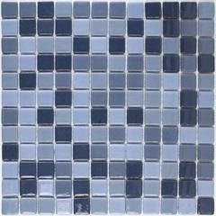 Pastilha em Vidro Ecológica Mescla Azul 30x30cm - Casanova