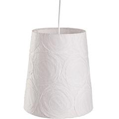 Pendente Cônico para 1 Lâmpada Safira Branco 25cm - LS Ilumina
