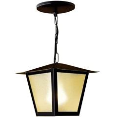 Pendente em Aço para 1 Lâmpada Colonial 33x20cm Branco - Ideal Iluminação