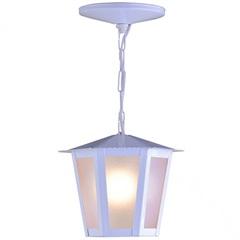 Pendente em Aço para 1 Lâmpada Colonial 34x19cm Branco - Ideal Iluminação