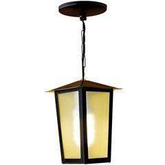 Pendente em Alumínio para 1 Lâmpada Colonial 37x15cm Preto - Ideal Iluminação