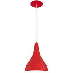 Pendente  Minas Gerais Pera em Alumínio Vermelho Pequeno Soquete E27 com Fio de 1 Metro - Nacilonal Iluminação