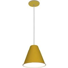 Pendente para 1 Lâmpada 60w Bivolt Coniki Amarelo - Casanova