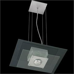 Pendente Retangular para 1 Lâmpada Spacial Transparente - Pantoja & Carmona