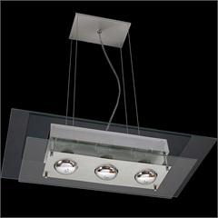 Pendente Retangular para 3 Lâmpadas Spacial Transparente - Pantoja & Carmona