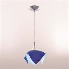Pendente Tulipa Color Azul - Auremar