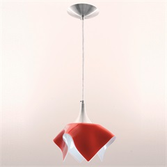 Pendente Tulipa Color para 1 Lâmpada Vermelho - Auremar