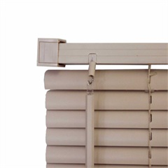 Persiana Horizontal Pvc 25 Mm 130 X140 Cm Block Bege - Top Flex