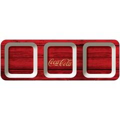 Petisqueira em Melamina Retangular Coca-Cola Wood Style - Urban