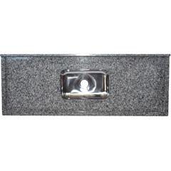 Pia Granito Luxo 1,80x0,55 M Cinza  - Bom Jesus