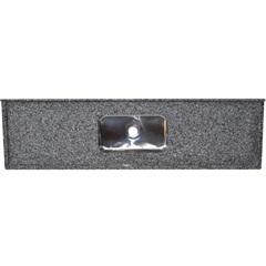 Pia Granito Luxo Cinza 200x55cm com Cuba Inox   - Bom Jesus
