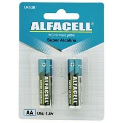 Pilha Pequena Alcalina Aa 1,5v 2 Unidades - Alfacell