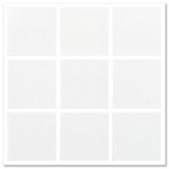 Piso Branco Alto Brilho Urbano Neve Brilhante 9,5x9.5cm  - Portobello