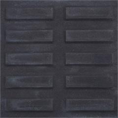 Piso Rampa Filete Preto 20x20cm Amarrado com 0.40m²